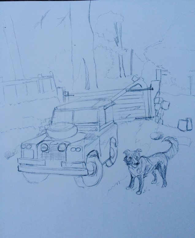 Willow and Land Rover